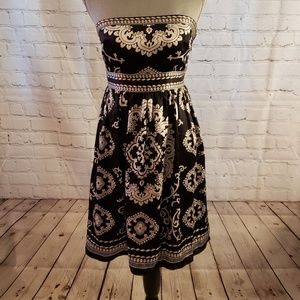 White House Black Market Silk Dress Sz 2